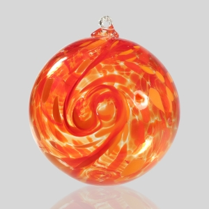 Kingston Glass Studio: Friendship Ball, Red