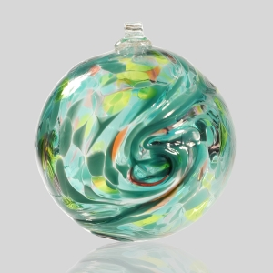 Kingston Glass Studio: Friendship Ball, Teal