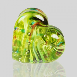 Kingston Glass Studio: Sweet Heart Paperweight, Green