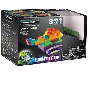 Laser Pegs: 8 in 1 Tank Runner Kit