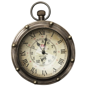 Authentic Models: Porthole Bronze Eye of Time Clock