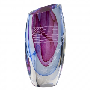 Ed Kachurik: Small Stars and Stripes Vase