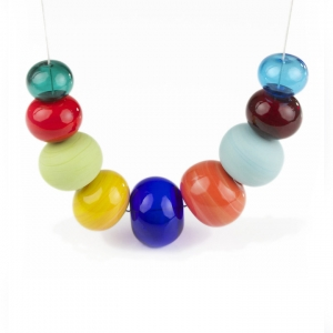 Alicia Niles: Viva Bubble Necklace, Multi-Colored