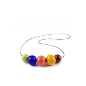 Alicia Niles: Viva Long 5-Bead Necklace, Multi-Colored