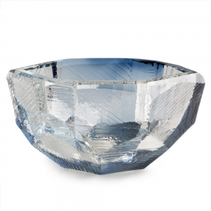 Vitreluxe Glass: Medium Crystal Bowl, Royal Blue