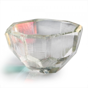 Vitreluxe Glass: Large Crystal Bowl, Luster