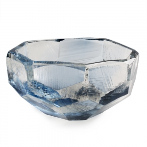 Vitreluxe Glass: Large Crystal Bowl, Royal Blue