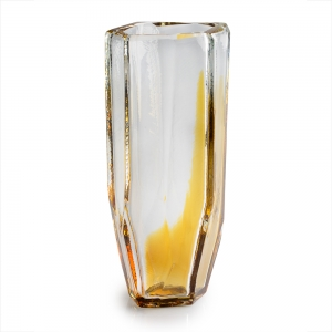 Vitreluxe Glass: Large Vase, Amber