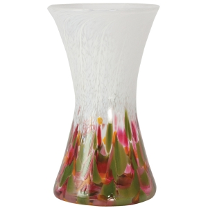 Glass Eye Studio: Tulip Mosaic Hourglass Vase