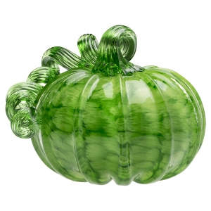 Vitrix Hot Glass Studio: Pumpkin, Green with Green Stem
