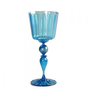 Vetro Vero: Blue Goblet 10