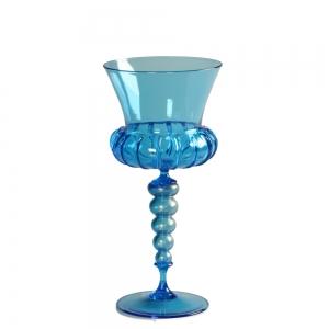 Vetro Vero: Blue Goblet 12