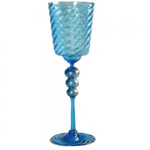 Vetro Vero: Blue Goblet 6