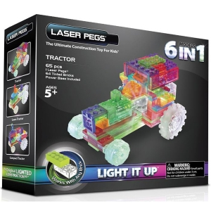 Laser Pegs: 6 in 1 Tractor Kit