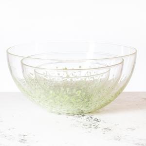 Baigelman Glass: Nesting Bowls, Set of 3, Green