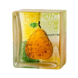 Stephanie Trenchard: Single Square Pear Saffron