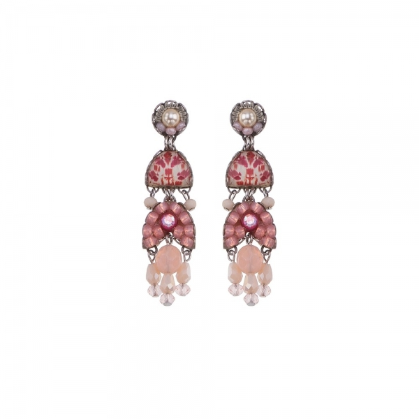 Ayala Bar: Isolda Gogi Pearls Earrings, different shades of pink beads with neutral accents.
