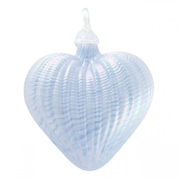 Glass Eye Studio: Heart Ornament, Periwinkle