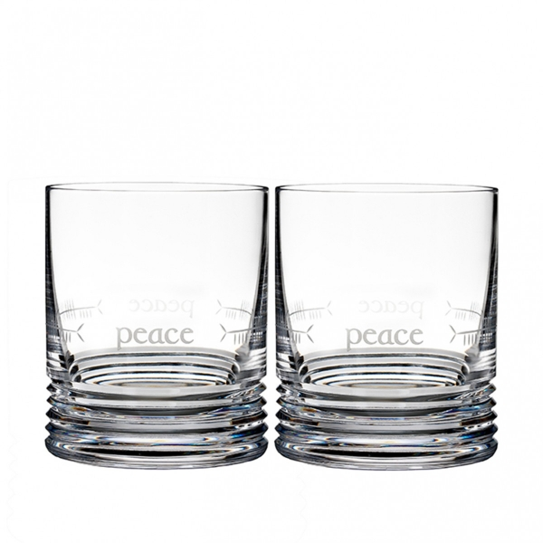 Waterford: Ogham Peace Double Old Fashioned Glasses, Set of 2