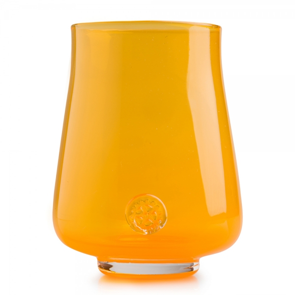 Five O'Clock Glass: Rainbow Wine Glass, Orange