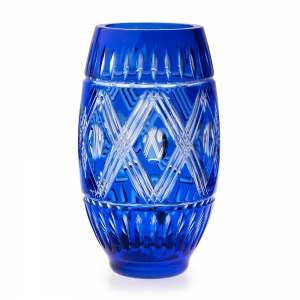 Waterford: Cased Cobalt Vase