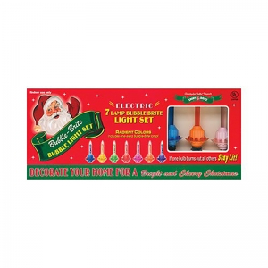 Christopher Radko: Holiday Splendor Bubble Lights, Set of 7