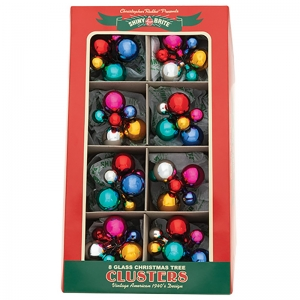 Christopher Radko: Christmas Confetti Clusters, Set of 8