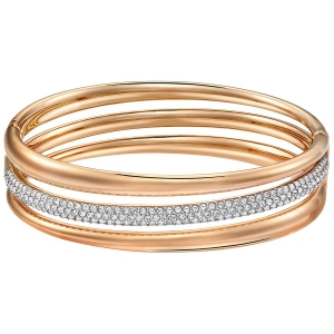 Swarovski: Exact Bangle, White, Rose Gold Plated