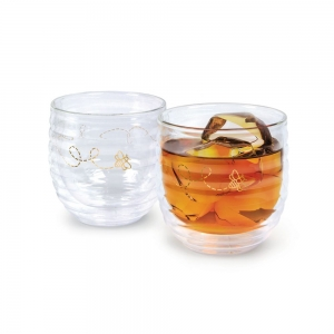 Fred & Friends: Buzzin' Rocks Glass, Set of 2