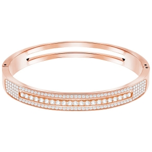 Swarovski: Further Bangle, White, Rose Gold Plated