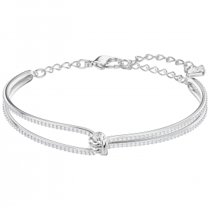 Swarovski: Lifelong Bangle, White, Rhodium Plated