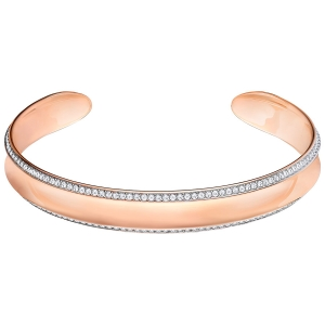 Swarovski: Lakeside Cuff, White, Rose Gold Plated