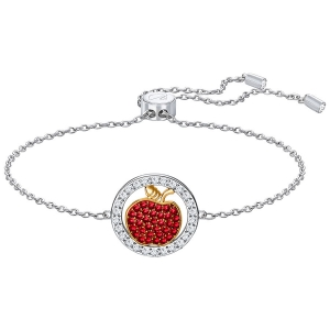 Swarovski: Lena Apple Bracelet, Red, Rhodium Plated