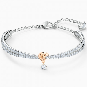 Swarovski: Lifelong Heart Bangle, White