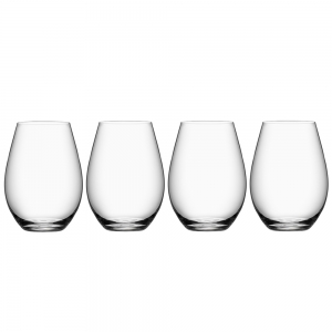 Orrefors: More Stemless Wine Glass, Set of 4
