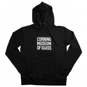 Corning Museum of Glass: Black Hoodie Sweatshirt
