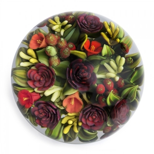 Cathy Richardson: Red & Green Winter Bouquet Paperweight