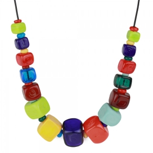 Alicia Niles: Cube Necklace, Multicolor