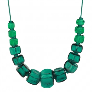 Alicia Niles: Cube Necklace, Teal