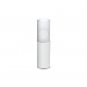 Tom Dixon: Tall Carved Vase, White