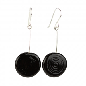 Alicia Niles: Tab Earrings, Black