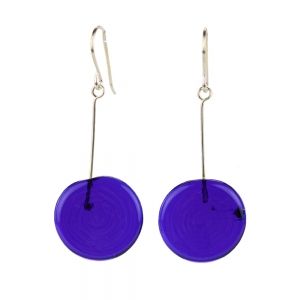 Alicia Niles: Tab Earrings, Cobalt