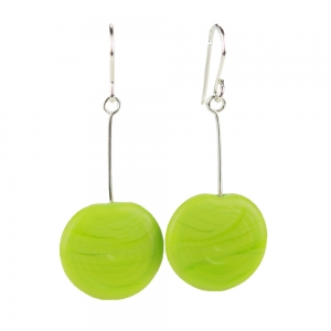 Alicia Niles: Tab Earrings, Green