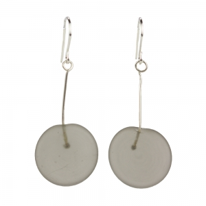 Alicia Niles: Tab Earrings, Gray