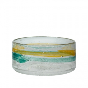 Adam Goldberg: Small Watercolor Bowl, Gold & Green