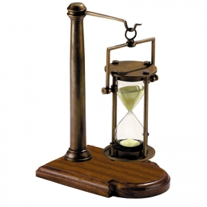 Authentic Models: Bronze 30-Minute Hourglass with Stand