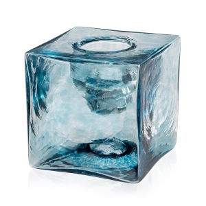 Peter Carter: Votive Candle Cube, Blue