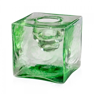 Peter Carter: Votive Candle Cube, Green