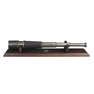 Authentic Models: Bronze Spyglass with Stand