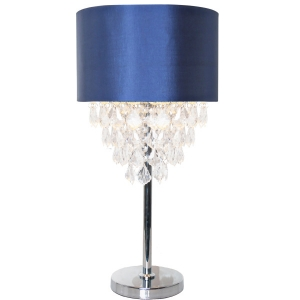 River of Goods: Navy & Crystal Table Lamp